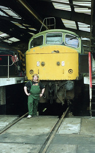 Me and 45060 during overhaul in 1987.
